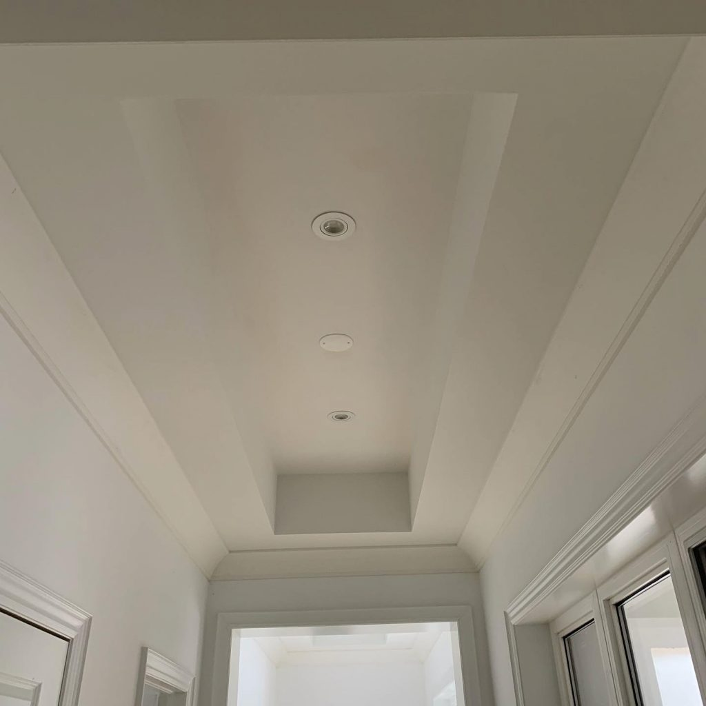 trim and crown molding painting