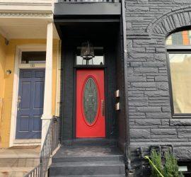 Exterior doors painting service