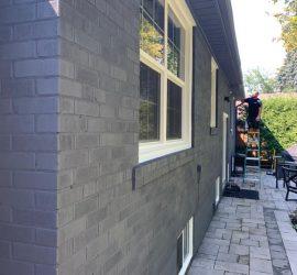 Exterior brick wall painting service